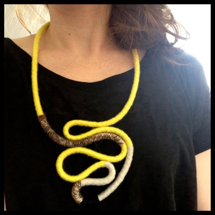 Rope:yarn necklace8